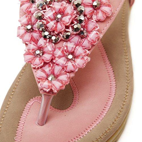 BELLOO , Bride de cheville femme T560-Pink