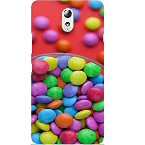 Casotec Candy With Colorful Bowl Design Hard Back Case Cover for Lenovo Vibe P1M
