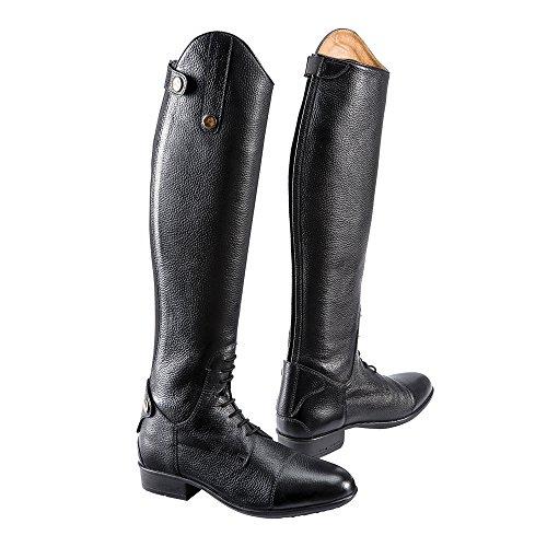 EQUI-THÈME Stivali da equitazione in cuoio, Primera, 2 colori: Nero o marrone - nero