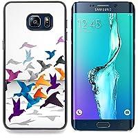 Queen Pattern - FOR Samsung Galaxy S6 Edge Plus - Origami Crane - Copertura della cassa impatto con Art Pattern Design