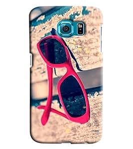 Blue Throat Sun Glasshard Plastic Printed Back Cover/Case For Samsung Galaxy S6 Edge