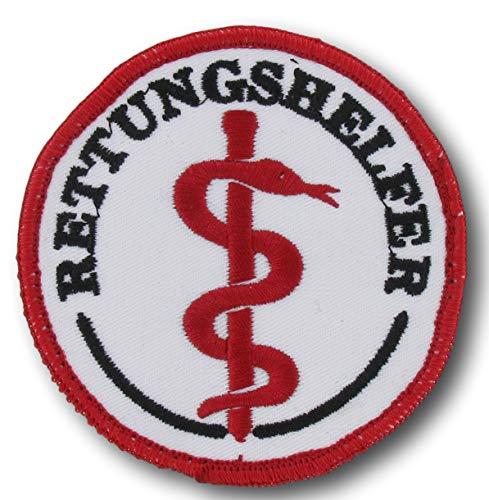 Emblem rund Äskulap/RETTUNGSHELFER ohne Klett