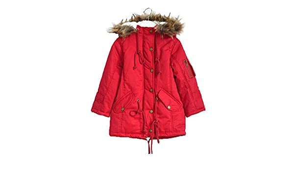 e312eb2dc Lemonkids Children Girls Faux Fur Hooded Winter Anoraks Wadded ...