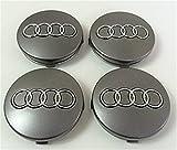 Set of Four Audi Alloy Wheels Centre Hub Caps Grey Covers Badge 60mm 4B0601170Fits Audi A3A4A5A6A7A8S4S5S6S8RS4Q3Q5Q7TT A4L Z91L S Line Quattro and Other Models 4b0601170Radblenden-Vier Felgen Center grau Abdeckung Schwimmer Nabe Deckel Deckel 60mm Audi 14,99