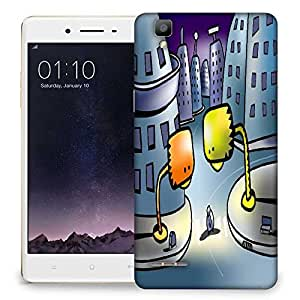 Snoogg Street Lights Designer Protective Phone Back Case Cover For Oppo F1