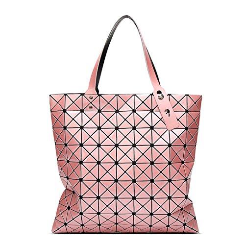 Borsette a tracolla pieghevoli a specchio per donna Borse a tracolla per borsa Geomertic Borse totes Pink