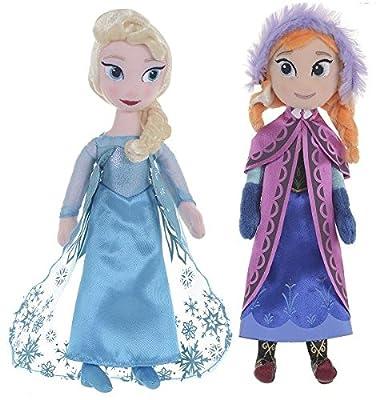 Disney Oficial Frozen 26cm (10 pulgadas) Elsa & Anna felpa Muñecas de trapo en caja de regalo de Posh Paws