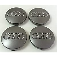 Set of Four Audi Alloy Wheels Centre Hub Caps Grey Covers Badge 60 mm 4B0 601 170 Fits Audi A3 A4 A5 A6 A7 A8 S4 S5 S6 S8 RS4 Q3 Q5 Q7 TT A4L Z91L S Line Quattro and other Models 4b0601170 Juego de cuatro Llantas Center Tapacubos Gris protectora nadadores Buje Tapa Buje tapas 60 mm Audi (14,99)