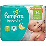 Pampers Baby Dry taille basse 2,3–6 kg Pack Pack de 4 (4 x 42 pièces)