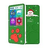 """Lettore MP3 per Bambini Schermo 2.4"""" Regalo di Natale 8 GB Lettore MP4 Bambini con Design a Zampa di Cane MP3 Bambini, Giochi E-book FM Radio Registratore Vocale Calendario (Verde)"""
