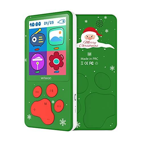 """MP3 Player für Kinder Weihnachtsgeschenk 2.4"""" Bildschirm 8 GB MP3 Player mit Radio Tierpfoten-Design,Spiele, FM-Radio, Sprachaufzeichnung (Grün)"""