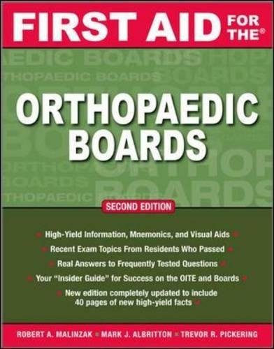 First Aid for the Orthopaedic Boards, Second Edition (First Aid Specialty Boards)