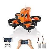 Furibee H801 Mini Drone con cámara WiFi FPV 2MP 720P, One Key Take Off y Land / Altitude Hold / Modo sin Cabeza /2.4G 4 Channel 6 Axis Gravity Sensor RC Selfie Quadcopter con 2 Baterías(Naranja)