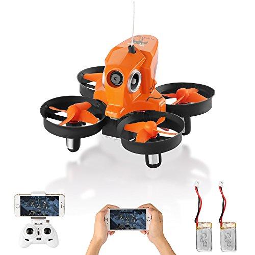 Furibee H801 RC Mini Drone, WiFi FPV 2MP 720P Telecamera e abbellire automaticamente Le Foto,Altitudine Hold / LED Luce/ Flip 3D / Ritorno a Una Chiave con 2 batterie,Regalo per Bambini per Natale