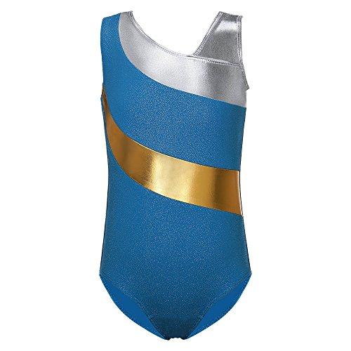 n-Streifen Ballett-Ballettröckchen-Tanz-Athletische Gymnastik-Trikotanzug für kleines Mädchen (100(2-3Y), Blue) (Kleine Mädchen Store)