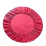 non-brand Sharplace Lenzuolo da Letto Rotondo in Cotone Copertura Materasso con Fascia Elastica - Rosa Rosa