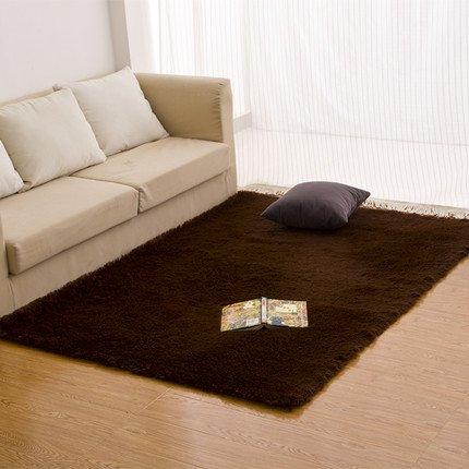 qwer Spesso letto rettangolare tappezzate camere da letto lussuosi tappeti tappeti oltre il soggiorno con semplici e moderne ,80*160cm, marrone