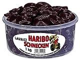 Haribo Lakritz Schnecken, 6er Pack (6 x 1 kg Dose)
