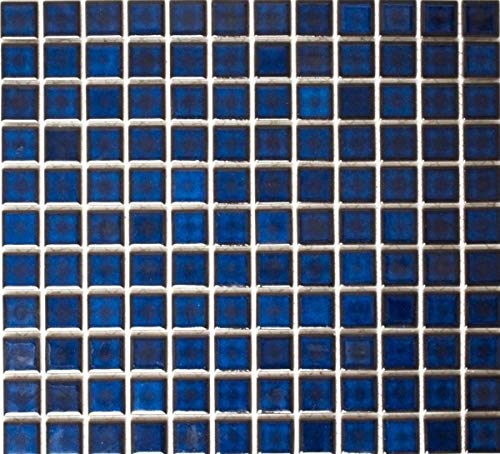 Mosaikfliese Keramik KOBALTBLAU DUNKELBLAU Fliesenspiegel Küche Bad MOS18-0405
