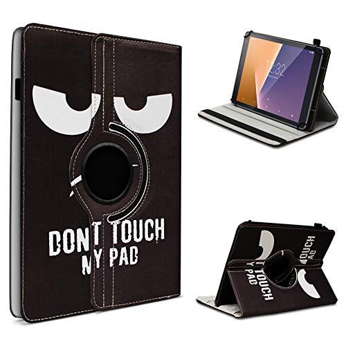 UC-Express Vodafone Tab Prime 6/7 robuste Tablet Schutz Hülle aus hochwertigem Kunstleder Tasche mit Standfunktion 360° drehbar Universal Cover Case kombiniert Schutz und Design, Farben:Motiv 4