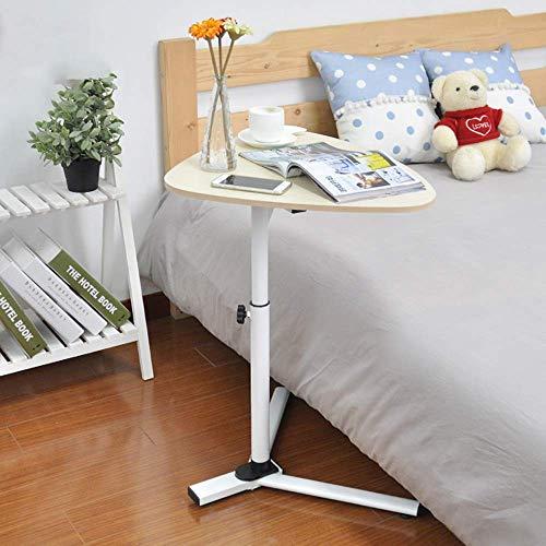 Ahorn Stahl Schreibtisch (Czhuo Laptop-Tisch Beistelltisch Höhenverstellbarer Laptop-Schreibtisch Sofatisch Tragbares Bett Schreibtischständer Lapdesks Drop-Leaf-Tisch,Weißer Ahorn)
