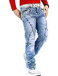 Cipo & Baxx Herren Jeans Denim Biker Streetwear Freizeit-hose Clubwear Bestseller Dicke Naht