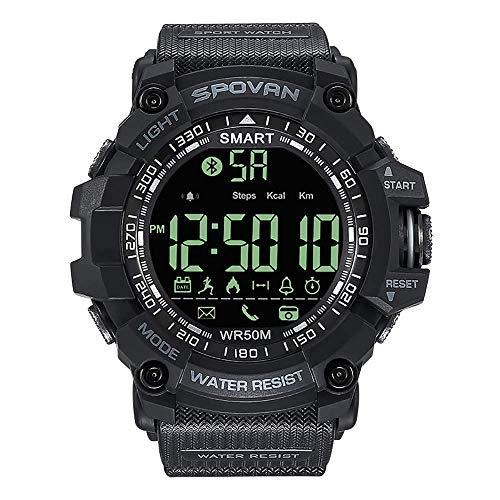Mygsn Watch Smart Armband - Herren Erwachsene Business Sport Mode Intelligente Elektronische Uhr Multifunktions Nachtlicht Schrittzähler wasserdichte Silikon Bluetooth Armband Watch (Farbe : B) -