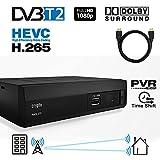 Crypto Redi 270PH DVBT2 Receiver Antennenempfang (Dachantenne, Innenantenne) für öffentliche Sender, mit HDMI Kabel 1M
