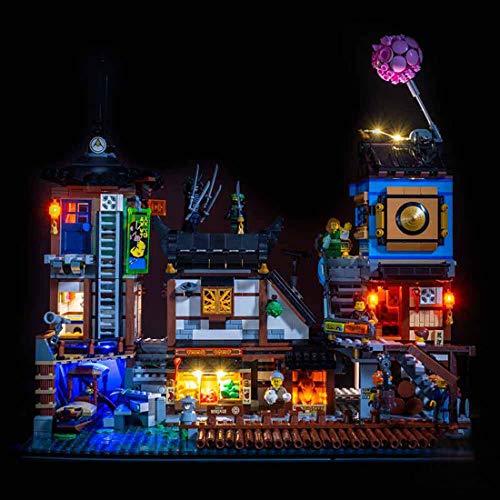 LOSGO Beleuchtungsset LED-Kabel Set für Ninjago City Hafen, Upgrade LED Licht Set, Kompatibel mit Lego 70657 Ninjago -