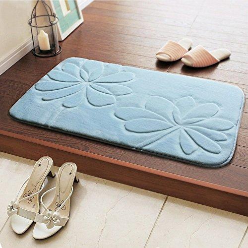 stts Fußmatte Boden Haustür Matte Haushalt Ottomane Kissen Schlafzimmer Badezimmer Küchentür Wasseraufnahme Rutschfeste Matte,EIN,50 * 80 cm -
