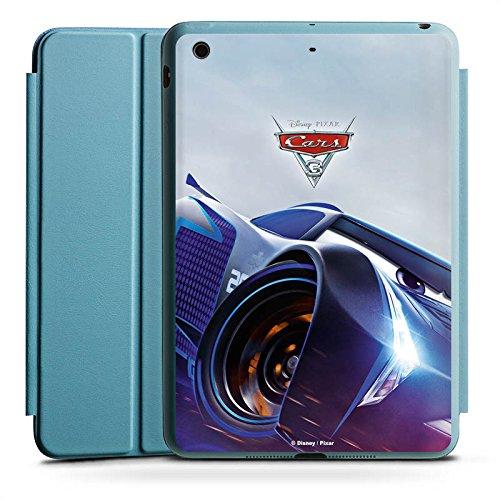 DeinDesign Apple iPad Mini 4 Smart Case hellblau Hülle Tasche mit Ständer Smart Cover Cars 3 Jackson Storm Disney Cars