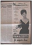 Scarica Libro RAMAZZOTTI Pagina pubblicitaria anni 60 (PDF,EPUB,MOBI) Online Italiano Gratis
