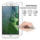 Acer Liquid Zest Plus, Protection en verre trempé, Protecteur d'écran en verre trempé Résistant aux éraflures bords arrondis,dureté max 9H, haute définition 99%
