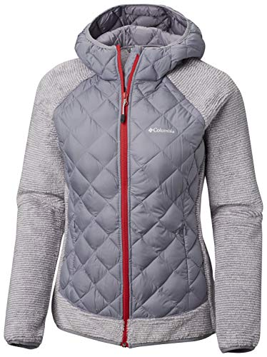Columbia Jacke für Damen, Techy Hybrid Fleece, Polyester, Grau (Astral/White Stripe), Gr. L, 1748421