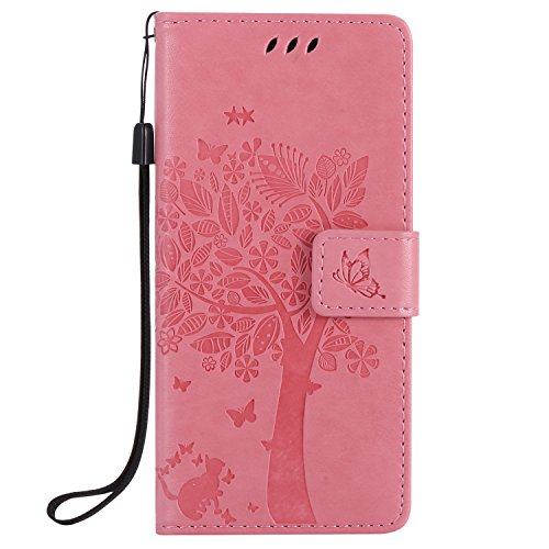 sony-xperia-e5-case-leather-pink-cozy-hut-wallet-case-premium-soft-pu-leather-notebook-wallet-emboss
