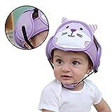 Protector de cabeza de bebé, casco de seguridad ajustable, resistente a los golpes, gorra de protección para niños morado morado