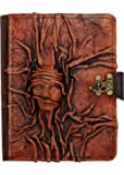 A little Present Embossed Small Scarfed Woman On A Vintage Leather Cover Case for Kindle 3/Kindle Keyboard/Kindle/Kindle HDX