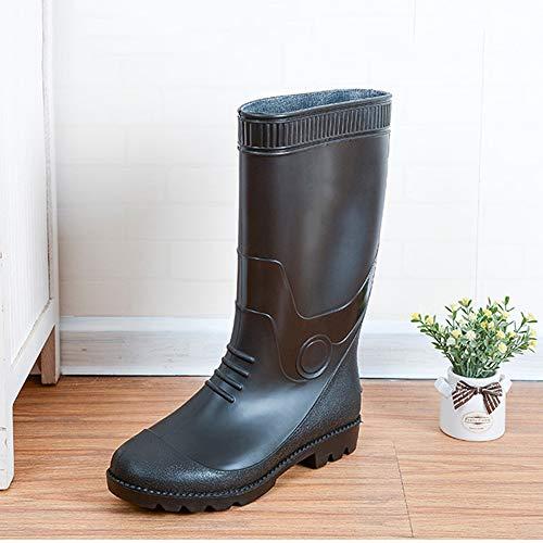 Pandady Men es Rubber Work Waterproof Snow Rain Boots, PVC Steel Toe 14