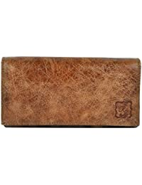 RS LEATHER Women's Trendy Genuine Leather Wallets ( TAN )