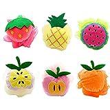 TOOGOO Bade Wanne Dusch Kissen 6 Teilig, Netz Bürste Kinder Dusche Ball Erdbeere, Wasser Melone, Ananas, Apfel, Pfirsich, Mango 6 Muster