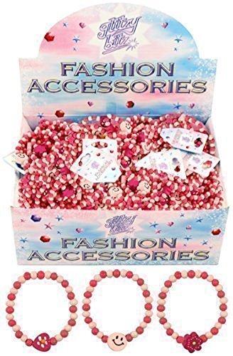 prezzo 12 x Carino Rosa Ragazze Perline Di Legno Braccialetti Riempitivi Borsa Partito Cuori