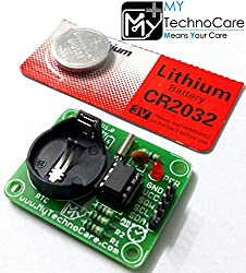 MY TechnoCare DS1307 RTC Module For Arduino,8051,AVR,PIC,ARM,MSP430,Raspberry Pi Board I2C IIC Real Time Clock Kit With FREE Li Battery | 56 Byte NV RAM Memory For Digital Timer,Alarm etc Industrial Prototype Product Project Research Development