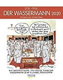 Wassermann 2020: Sternzeichenkalender-Cartoonkalender als Wandkalender im Format 19 x 24 cm. -