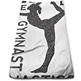 Nifdhkw Love Gymnastics Gymnast Interest Microfiber Lightweight Soft Fast Drying for Gym Beach Travel Fitness Exercise Yoga