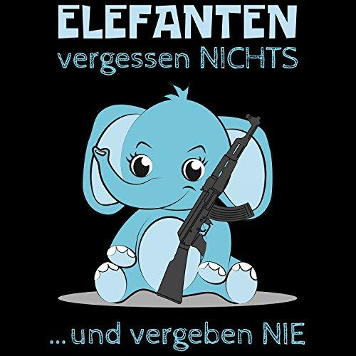 Fashionalarm Damen T-Shirt - Elefanten vergessen nichts und vergeben nie   Fun  Shirt mit ...