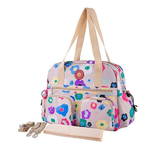 Chilsuessy Baby Wickeltasche Reisen Tasche Handtasche, großes Fassungsvermögen, Isolierung, Passform für Kinderwagen, Windel Schultertasche Tragetasche, 4# 3#
