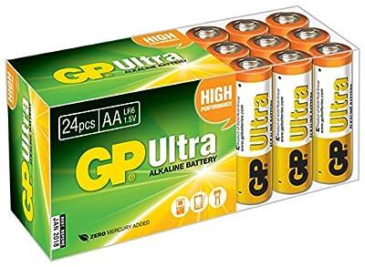 GP Batteries Ultra Alkaline AA Batteries (Pack of 24)-P