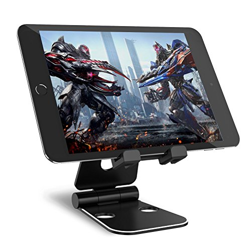 Tablet Halterung Syncwire iPad Ständer - Verstellbarer 2*270-Grad Handy Tisch Stand für iPad Pro 12.9''/10.5''/9.7'' Air Mini, iPhone X 8/7/6s/6 Plus, Samsung Galaxy Tab A/S2/S3/E/E Lite/S8/Note 8, Huawei P10/Mate 10, Kindle - Schwarz (Pad Aufladen Handy)