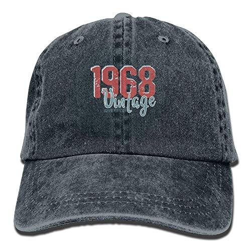 Preisvergleich Produktbild Vintage 1968 Aged to Perfection Denim Hat Adjustable Mens Flag Baseball Caps
