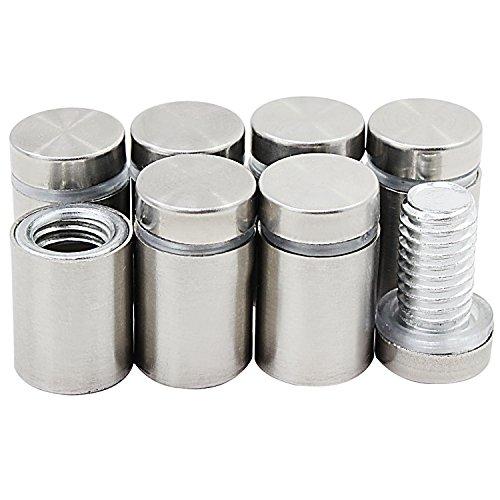 HSeaMall Edelstahl Werbung Schraube 12 x 20mm Nägel Glas Standoff Halter 20PCS